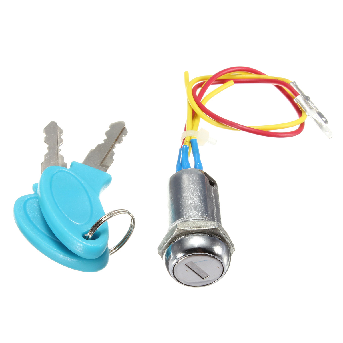 2 Wire Keys Ignition Key Switch Lock Go Kart Scooter Electric Bike Wiring Bikes Pocket 979951701284 Ebay