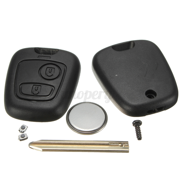 2 btn remote key fob case blade battery for citroen saxo xsara berlingo picasso ebay. Black Bedroom Furniture Sets. Home Design Ideas
