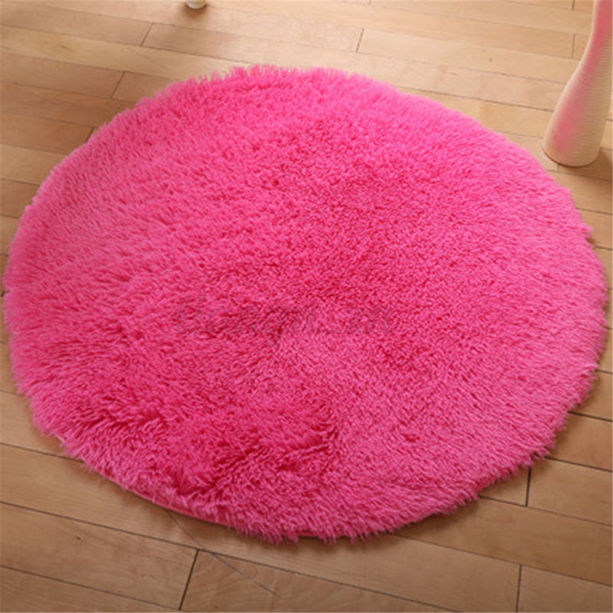 Fluffy circle round anti skid area rug shag soft carpet for Soft carpet for bedrooms