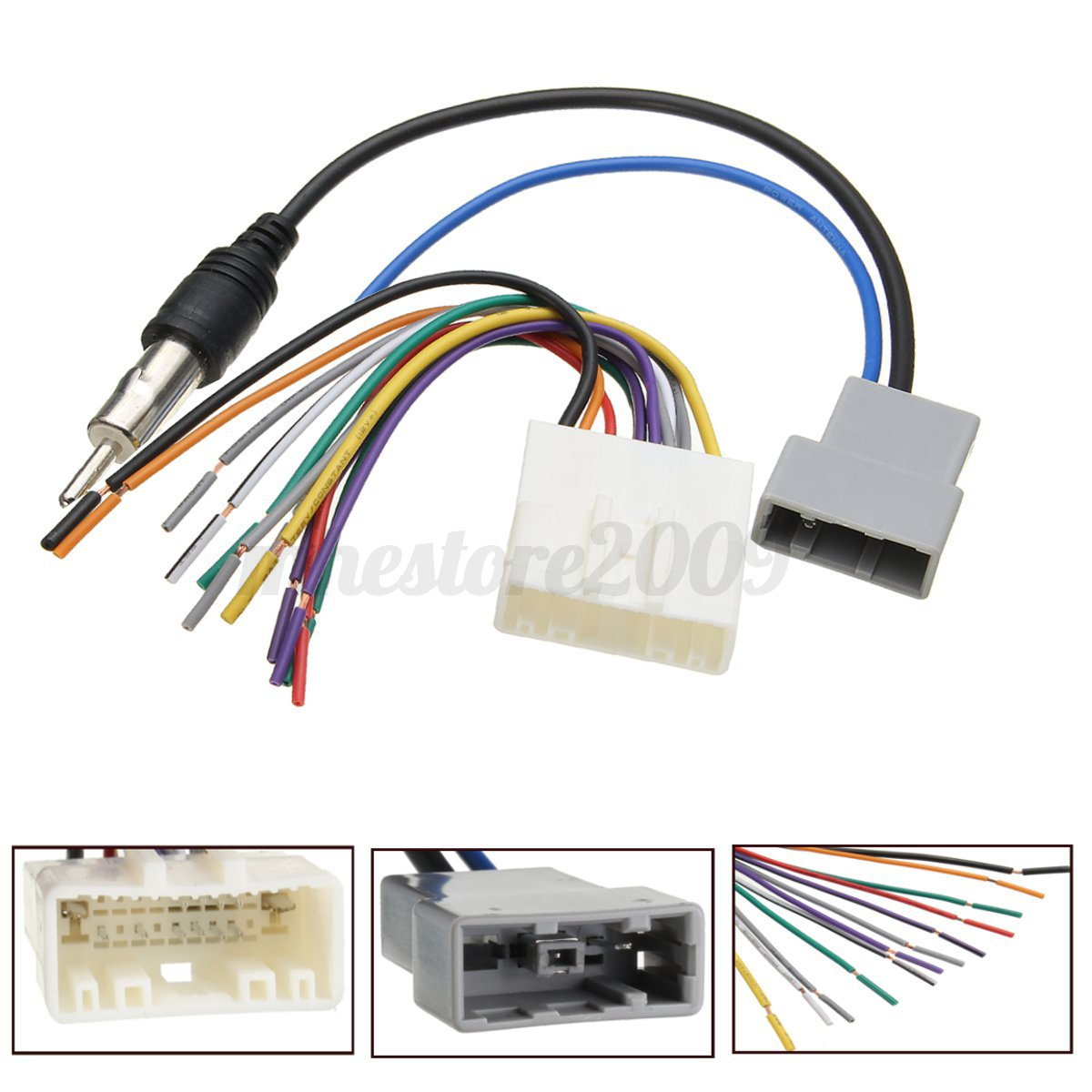 Nissan Stereo Wiring Harness Free Diagram For You Electrical Cars Car Dvd Radio Install Wire Cable Plugs Adapter