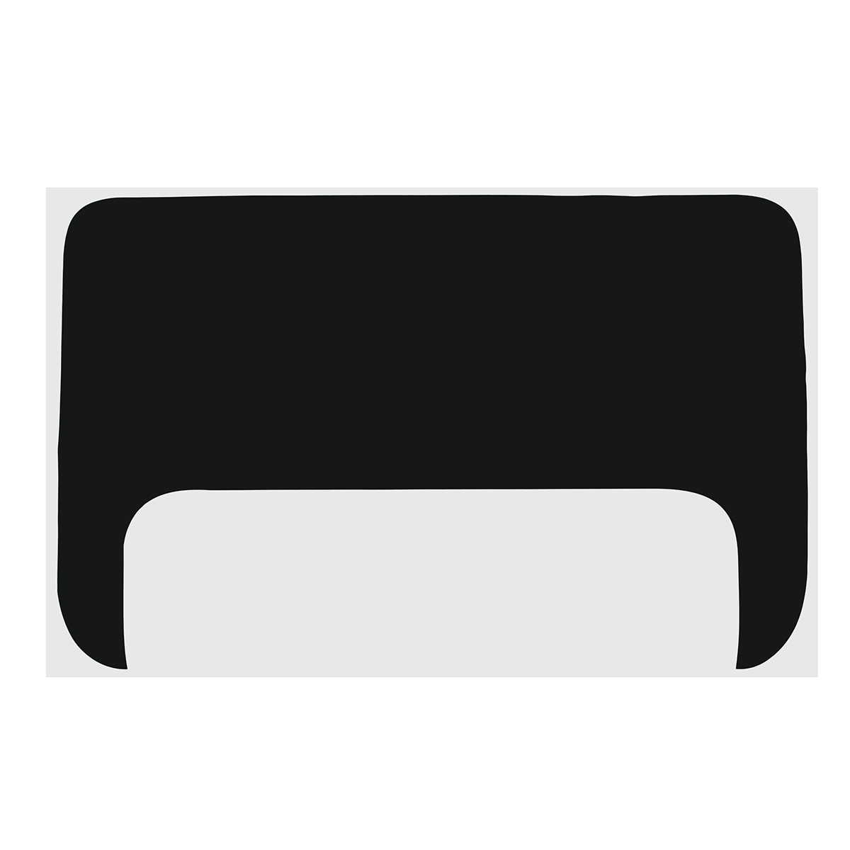 75cm Black Vinyl Hood Scoop Decal Graphics For Toyota