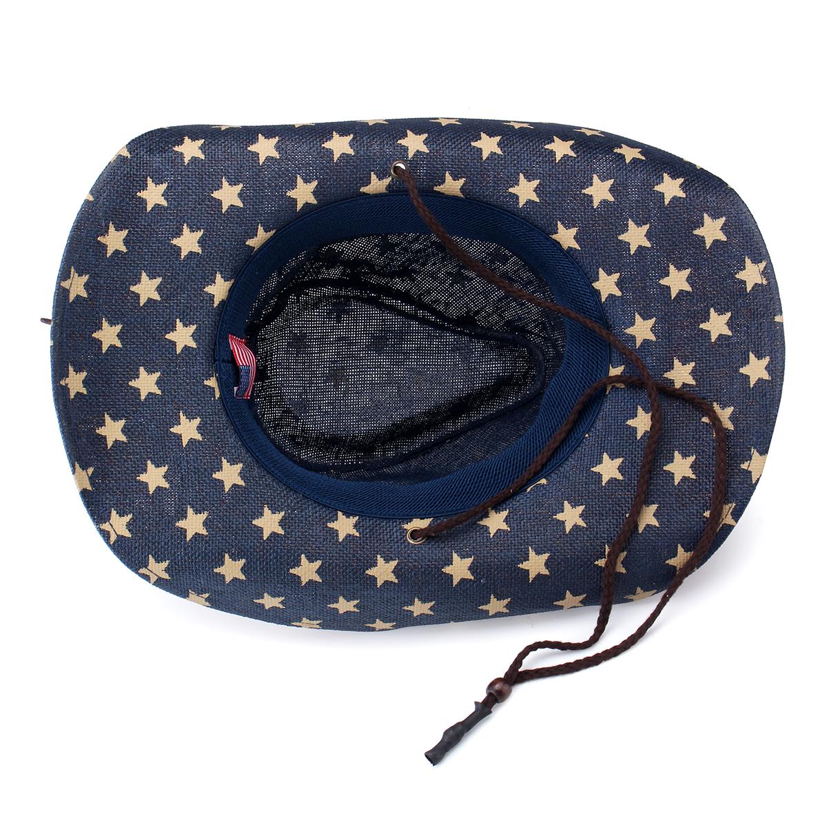 c417e9495b0 Women Men Straw Western Sombrero Cowboy Hats Cowgirl Caps American ...