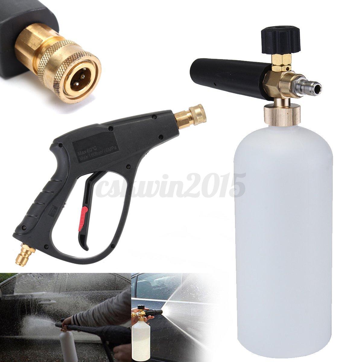 haute pression laveuse nettoyeur nettoyage brosse pistolet buse lavage voiture ebay. Black Bedroom Furniture Sets. Home Design Ideas