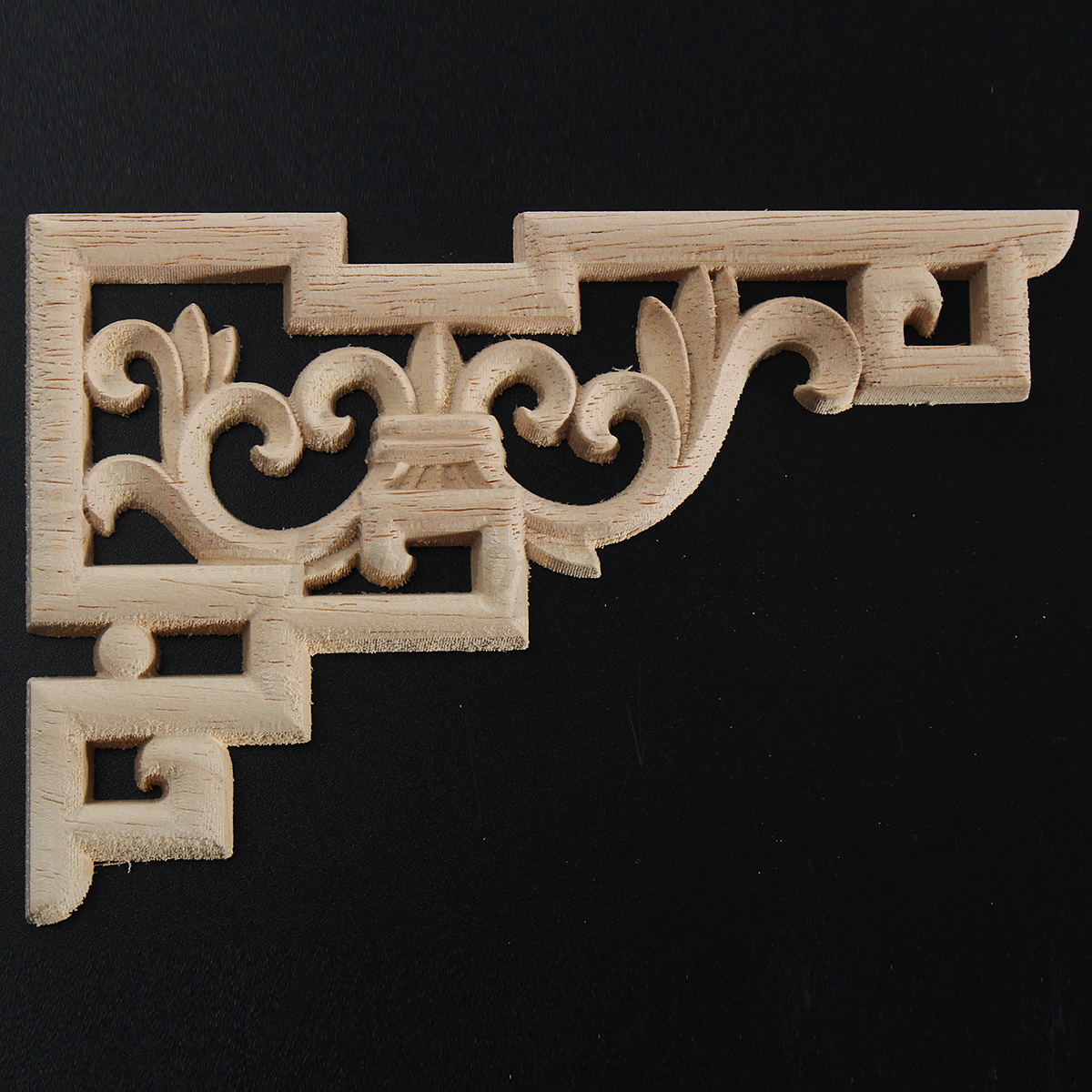 2 4pcs 15x10cm wood carved corner furniture onlay applique for Applique furniture decoration