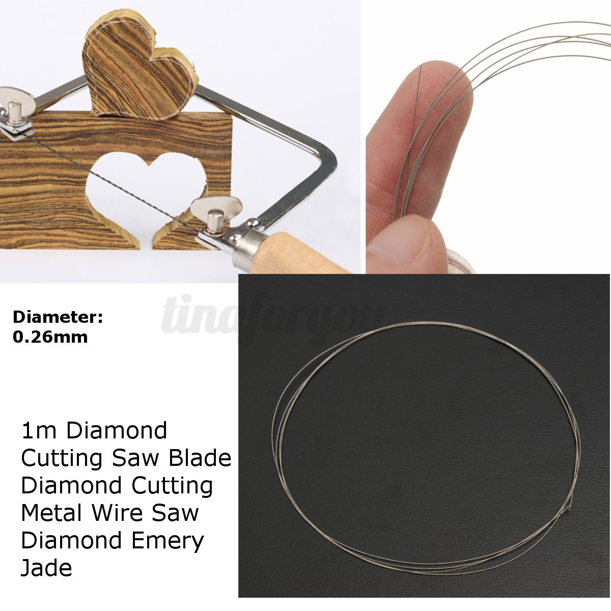 DIY Diamond Cutting Wire Saw Blades for Metal Emery Jade Glass Rock ...