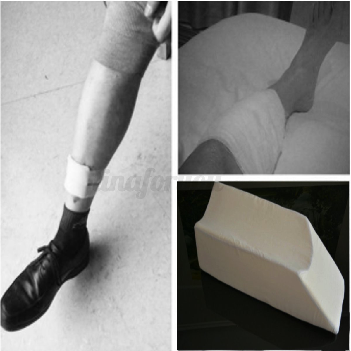 White Lower Limb Elevation Pad Wedge Bed Pillow Elevating