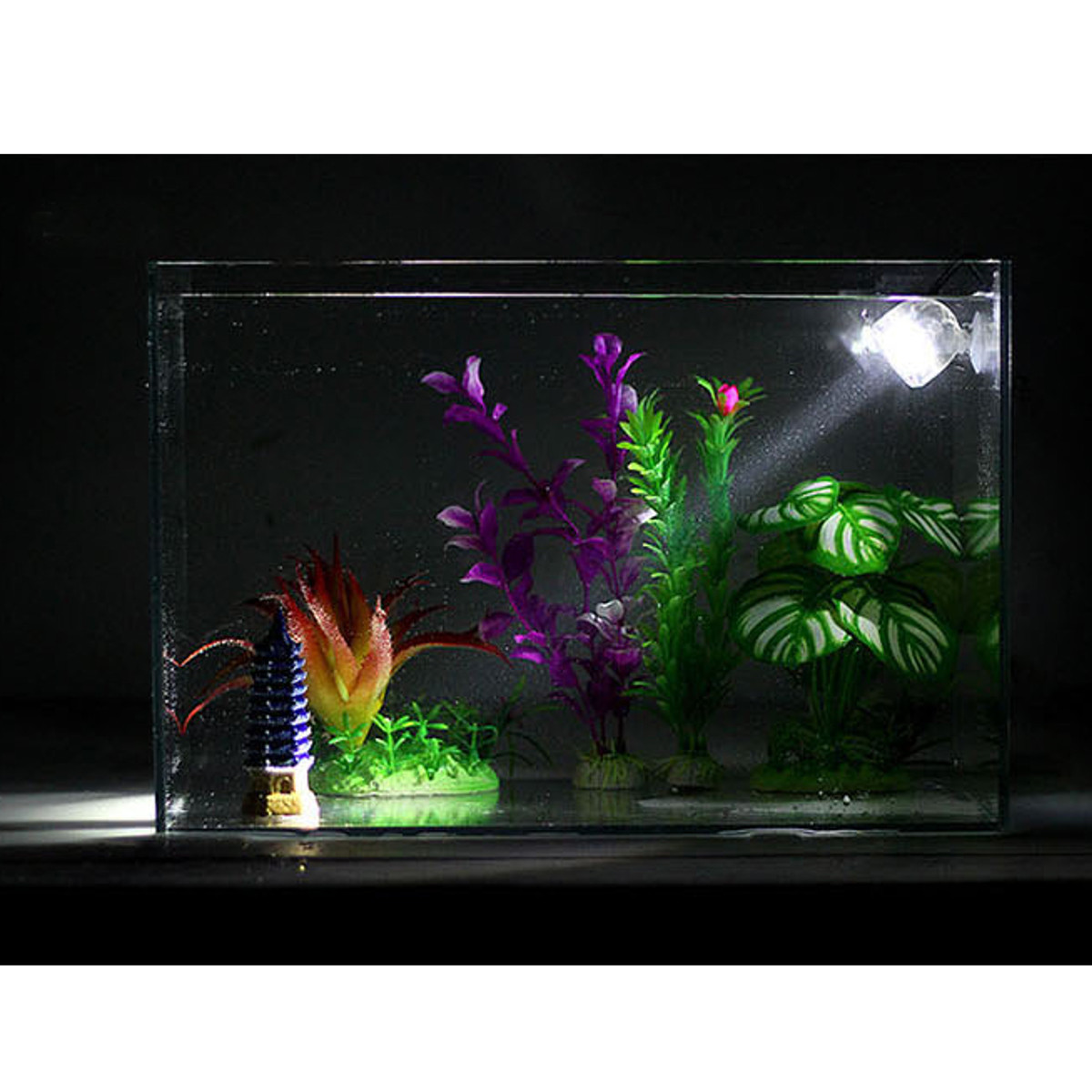 Aquarium poisson led lampe submersible tanche ampoule for Aquarium 1 poisson