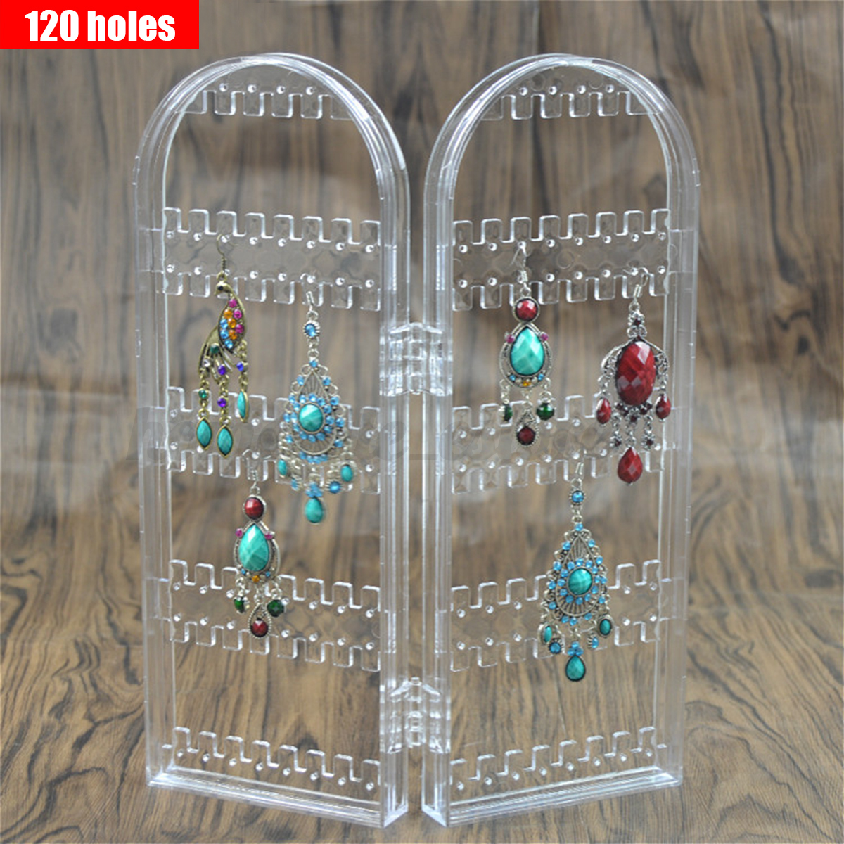 120240 Holes Earring Hanging Rack Jewelry Organizer Holder Metal
