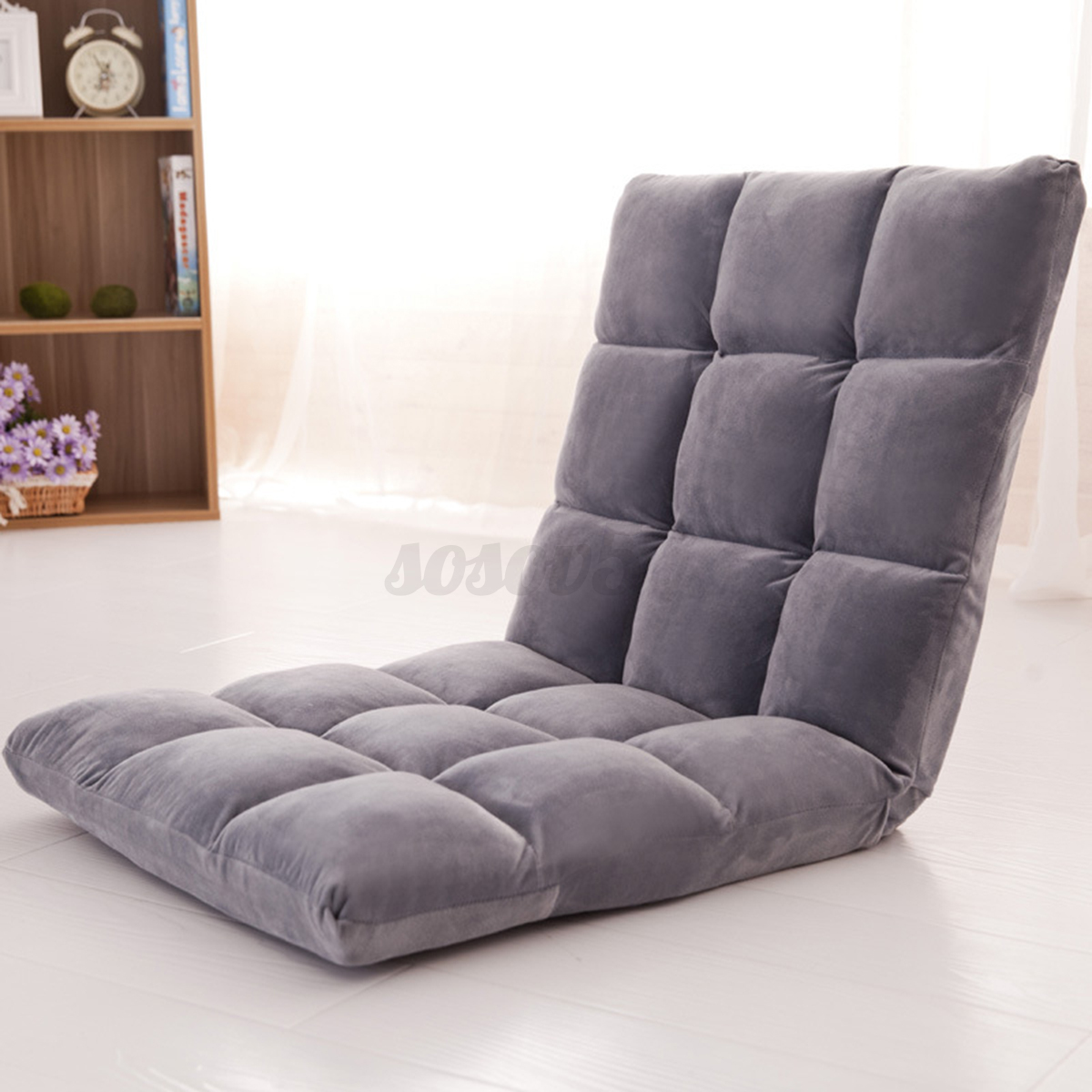 folding gaming chair adjustable lounger sofa lazy home garden seat recliner