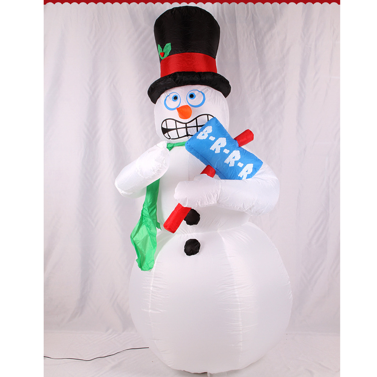 Inflatable Christmas Santa Snowman Decoration Xmas Decor Blow Up ...