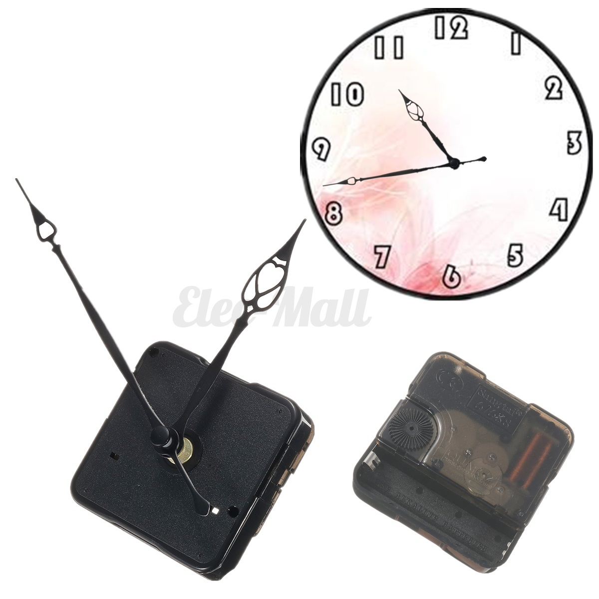 replacement retro quartz clock movement mechanism motor with hands and fitting ebay. Black Bedroom Furniture Sets. Home Design Ideas