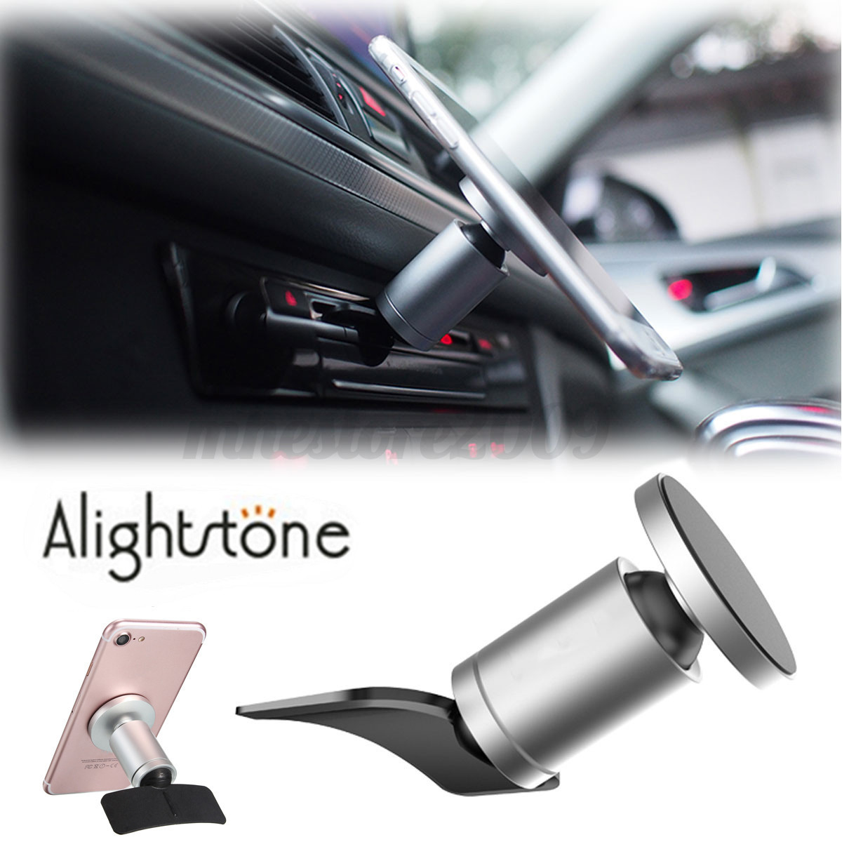 alightstone 360 magnetic car cd slot holder mount bracket for mobile phone gps ebay. Black Bedroom Furniture Sets. Home Design Ideas