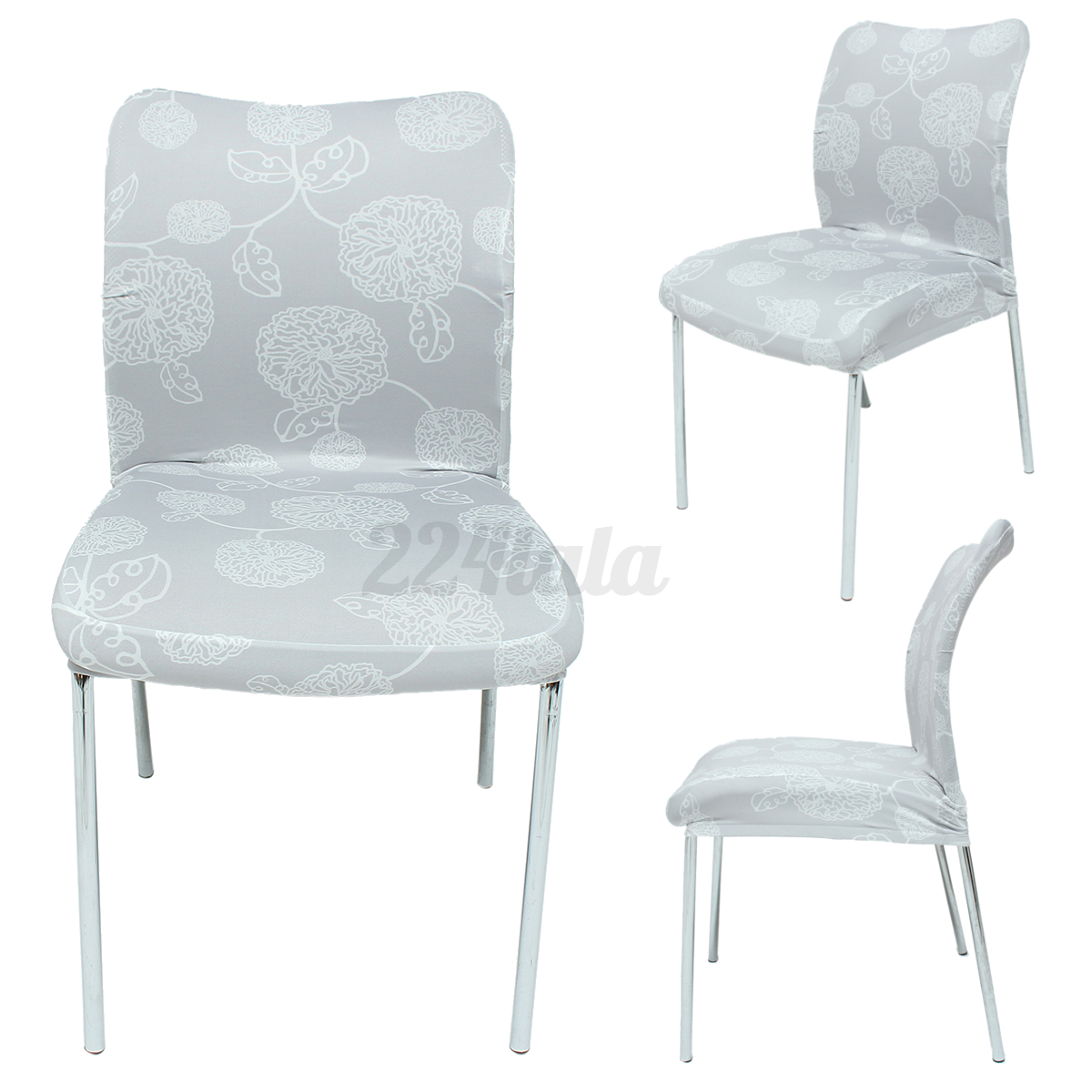 gray universal chair seat cover high elastic chair cover. Black Bedroom Furniture Sets. Home Design Ideas