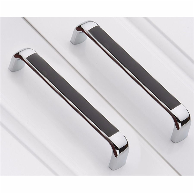 X Modern Simple Pull Handle Kitchen Cabinet Door Drawer Hardware - Chrome handles for kitchen cabinets