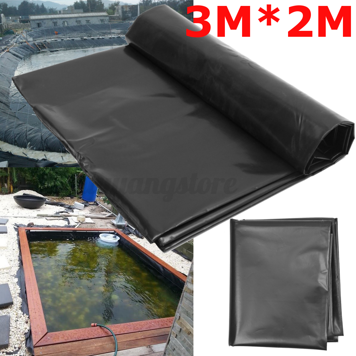 Durable fish pond liner gardens pools hdpe membrane for Garden pool liners uk