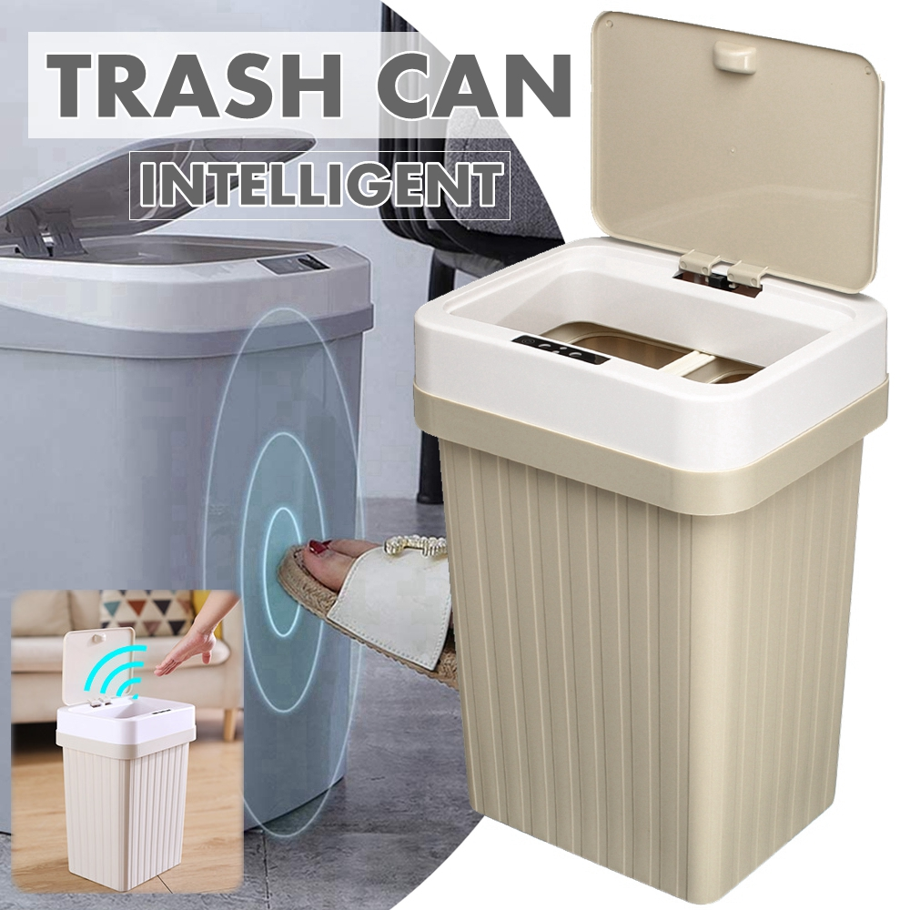 16L Automatic Smart Trash Can Touchless Infrared Motion Sensor