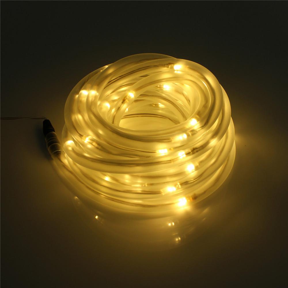 100 200led rope tube light string solar battery outdoor. Black Bedroom Furniture Sets. Home Design Ideas