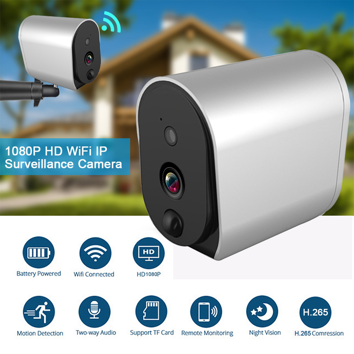 1080p Battery Camera Wifi Wireless