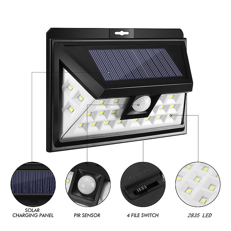 solarleuchte led solar lamp pir motion sensor wandlampe au enleuchte wasserdicht ebay. Black Bedroom Furniture Sets. Home Design Ideas