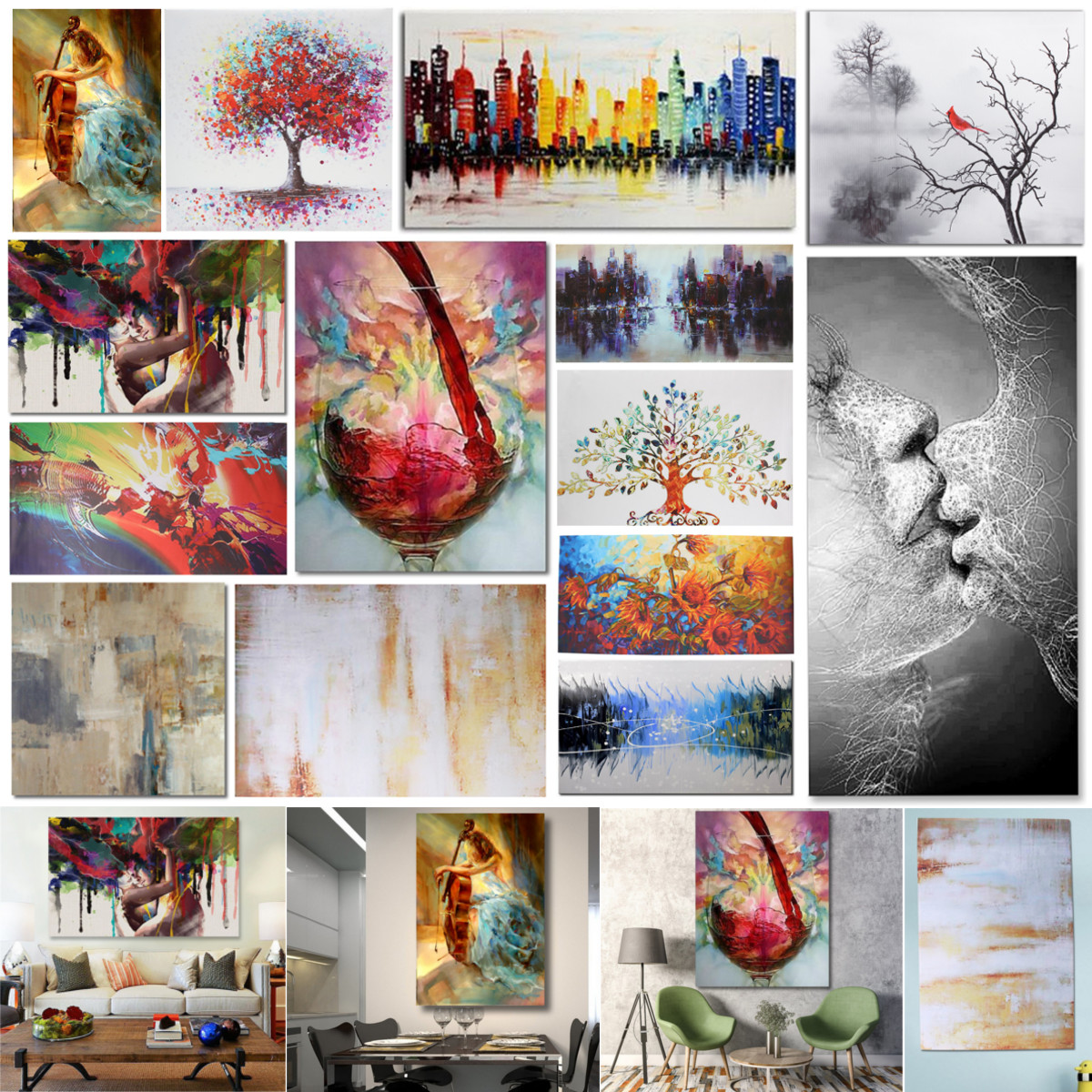 details about unframed framed modern feel canvas print painting picture wall art home decor uk rh ebay co uk