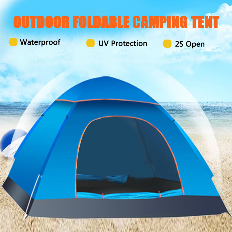 Details about 2 3 Person Beach Camping Festival Fishing Garden Kids Tent Sun Shelter 3