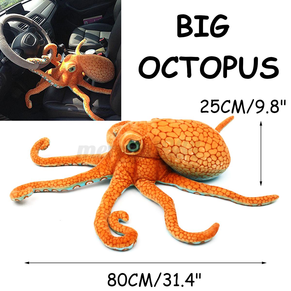80cm Big Funny Cute Octopus Squid Stuffed Animal Soft Plush Toy Doll Pillow