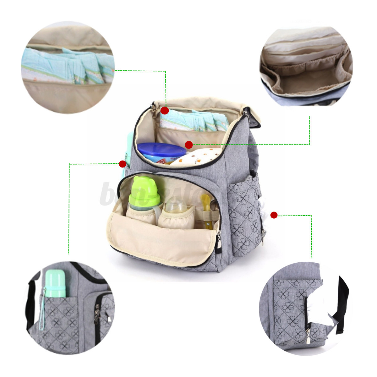 mummy maternity baby diaper bags travel nappy organizer nursing backpack large ebay. Black Bedroom Furniture Sets. Home Design Ideas