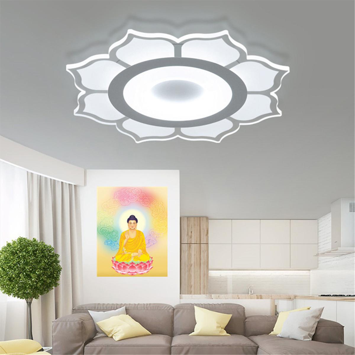 Modern Deckenleuchte LED Lampe Beleuchtung Lotosblume Wohnzimmer Deko