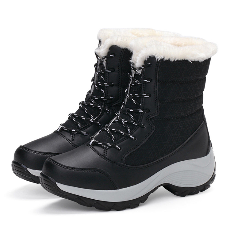 AU-Women-Winter-Snow-Boots-Artificial-Wool-Lining-Warm-Waterproof-Lace-Up-Shoes