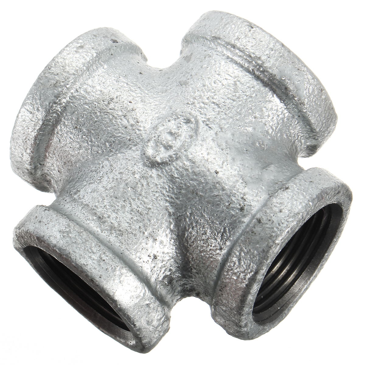 Way black iron pipe threaded coupling tee fittings cross