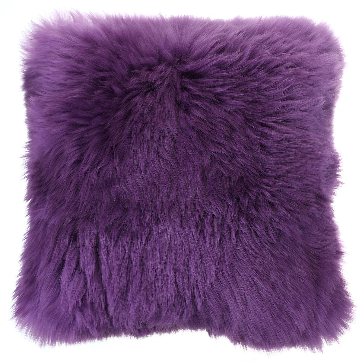 High Quality Sheepskin Wool Back Cushion Long Hair Fur Bed
