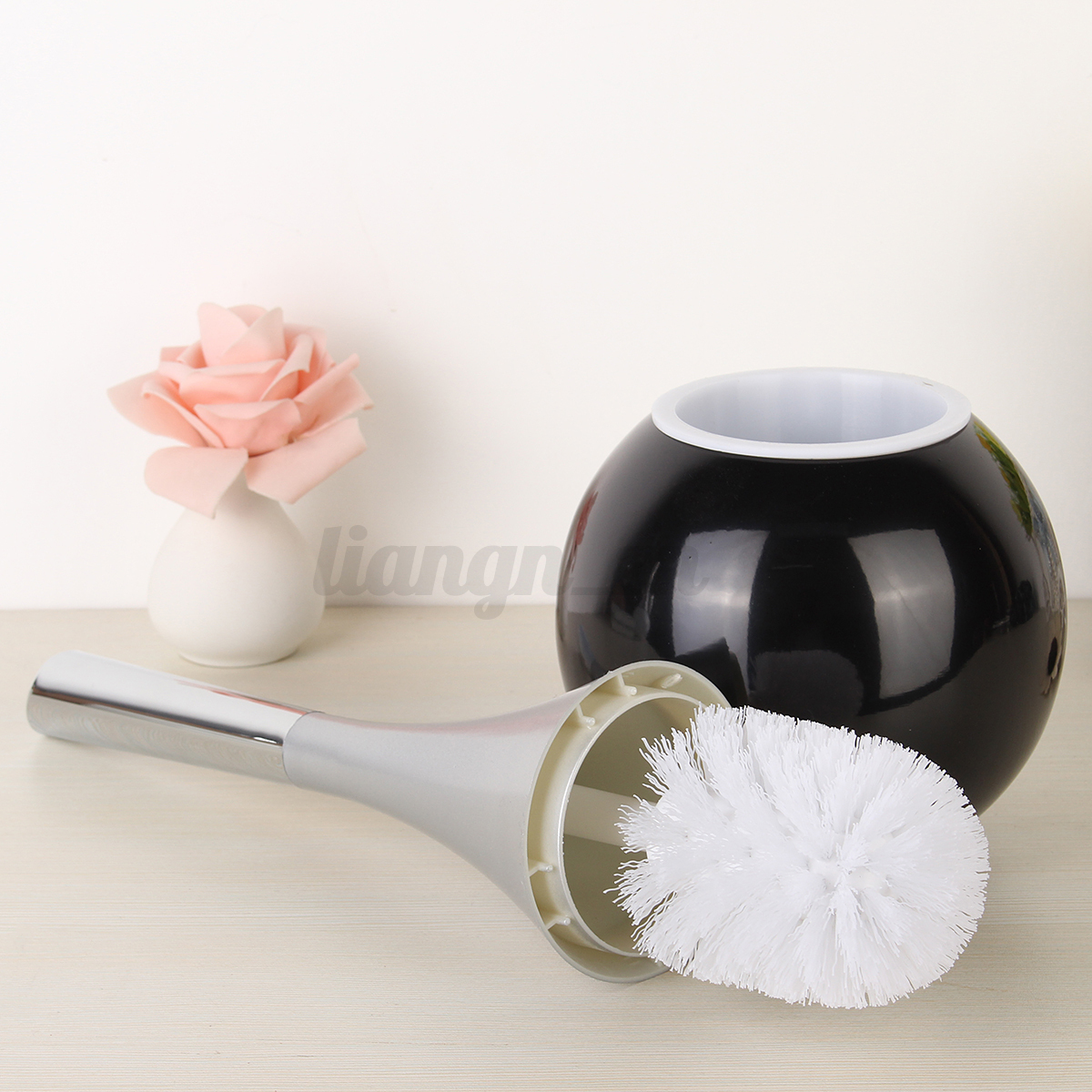 brosse de toilette bidet wc salle de bain nettoyage poign e m nage porte brosse ebay. Black Bedroom Furniture Sets. Home Design Ideas