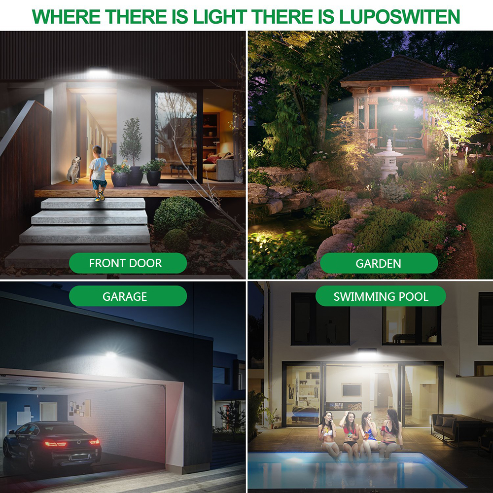 1000LM 118LED Solar Lamp Outdoor Garden Waterproof PIR Motion Sensor Light CHZ