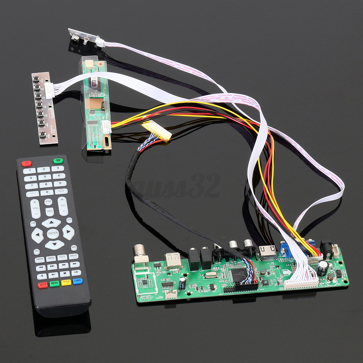 tv universal lcd led screen controller board diy monitor kit with remote control cad. Black Bedroom Furniture Sets. Home Design Ideas