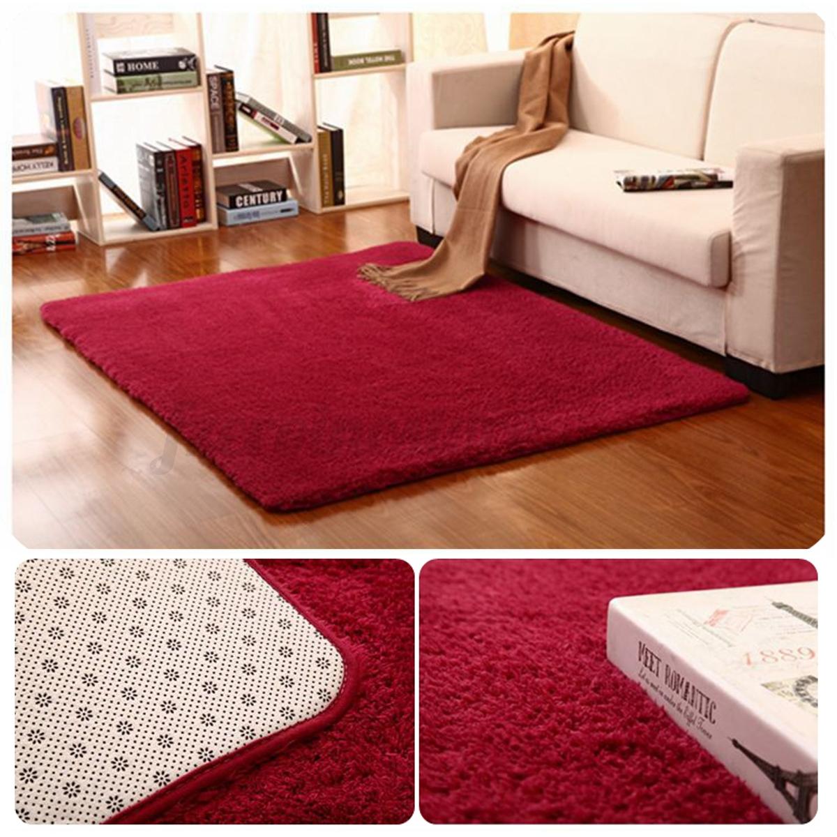 Fluffy rugs anti skid shaggy area rug home bedroom dining - Tappeti da sala ...