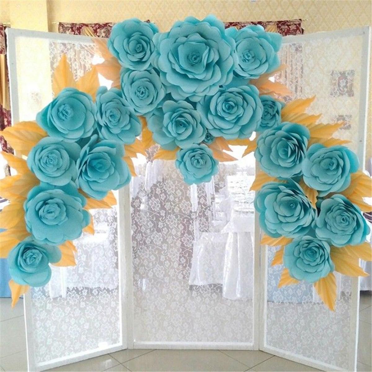 30cm Handmade Paper Flower Diy Backdrop Wall Wedding Birthday Party