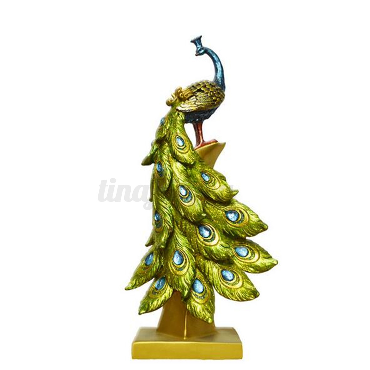 Painted Couple Peacock Wedding Gifts Unique Delicate Home: Exotic Resin Peacock Ornament Figurine Statue Craft
