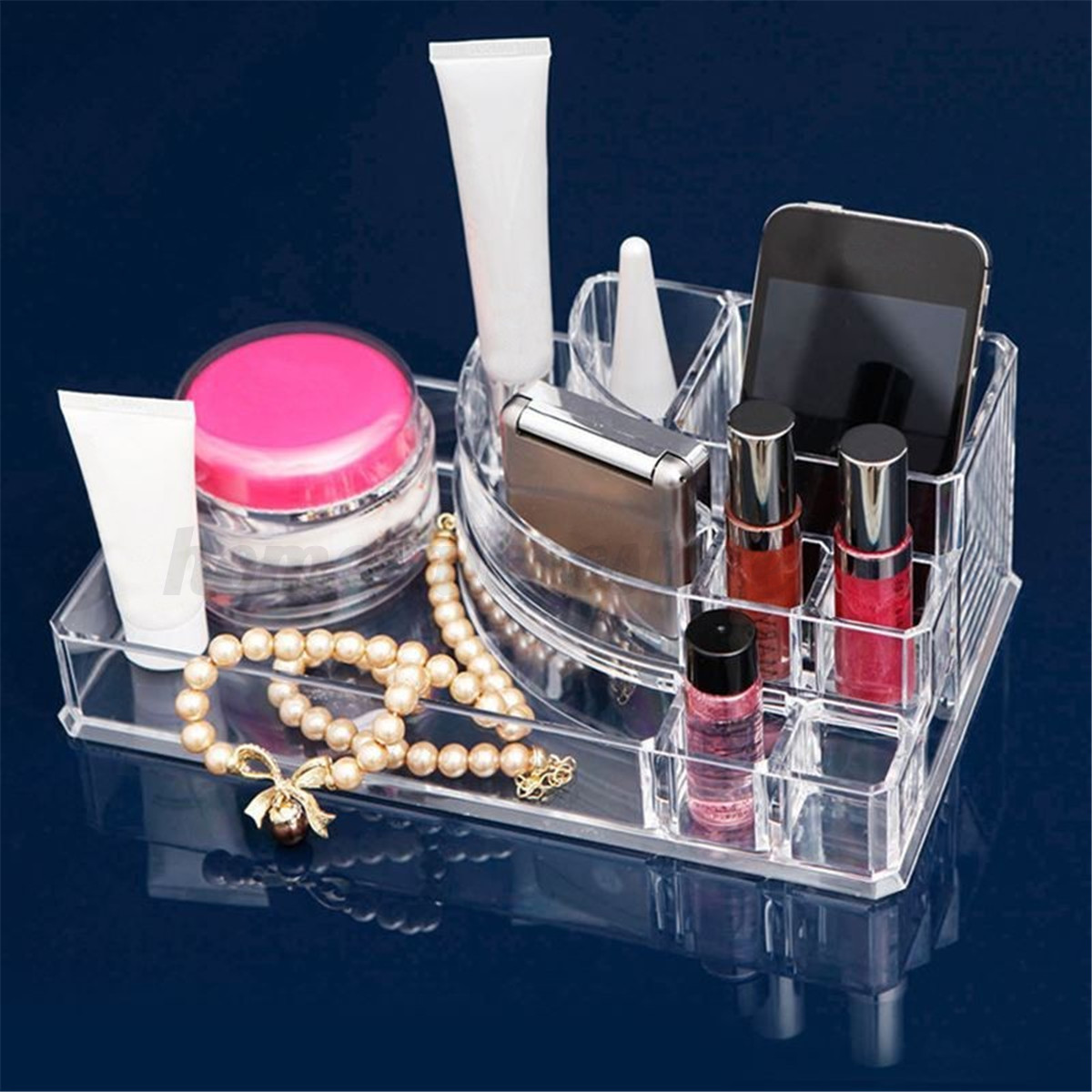 Clear Acrylic Makeup Case Cosmetic Organizer Drawer