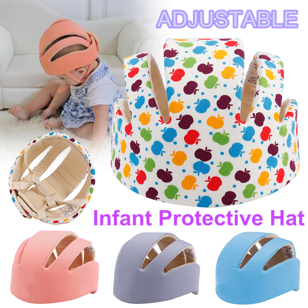 1 Pc Baby Toddler Forestry Safety Helmet Headguard Hat Adjustable Harnesses Cap