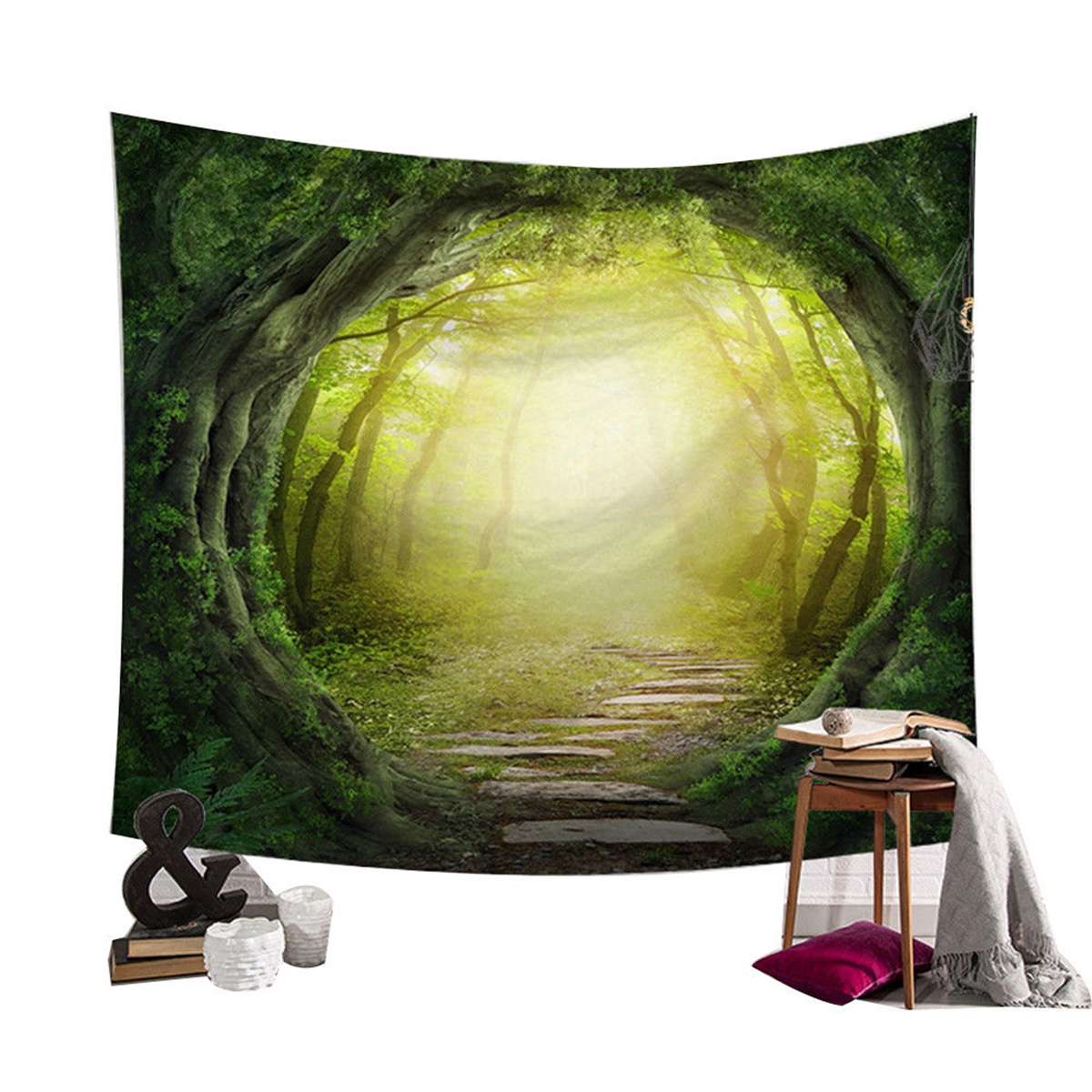 Sun-Star-Moon-Fairy-Tarot-Tapestry-Wall-Hanging-Cover-Throw-Bedspread-Home-Decor