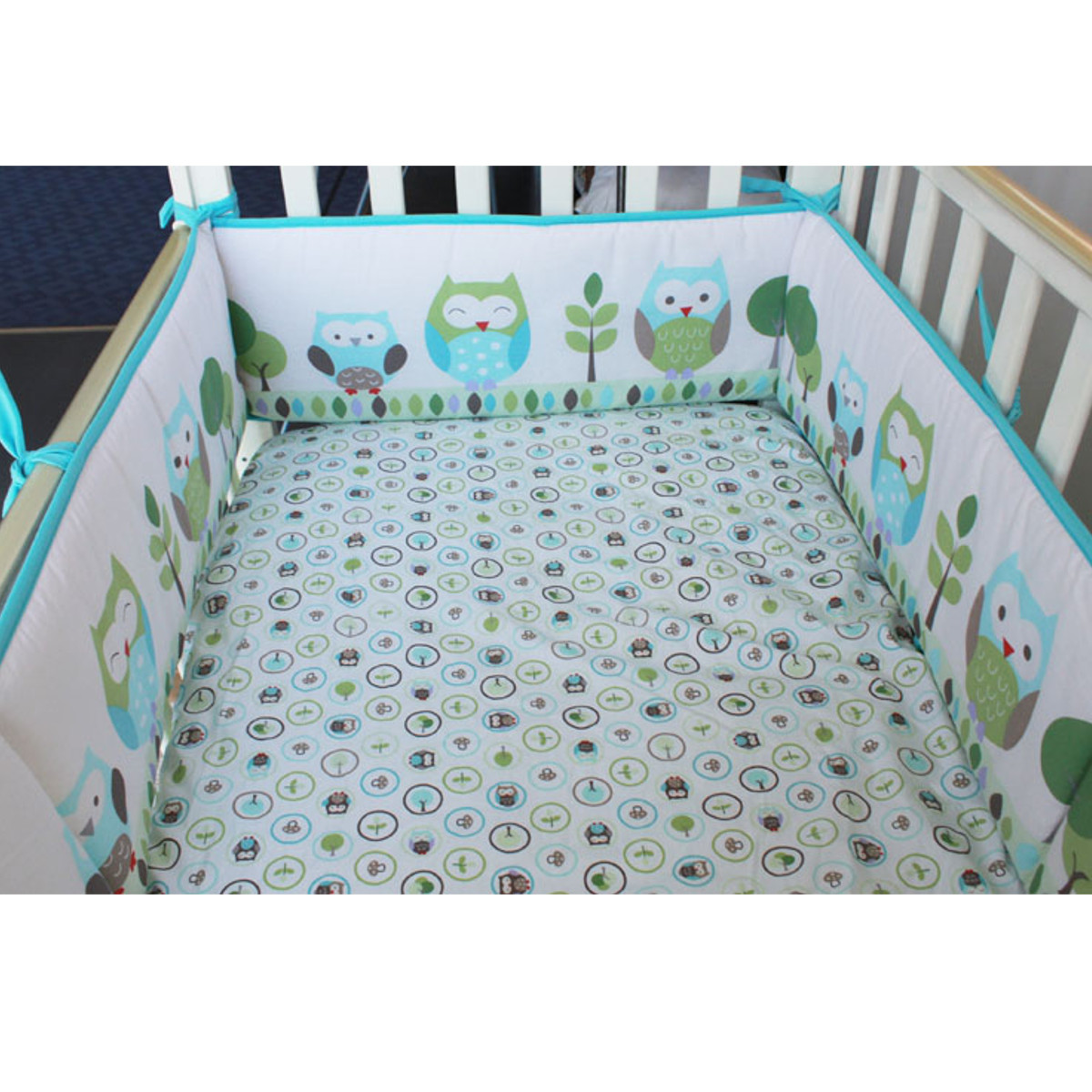 4Pcs/set Baby Infant Cot Crib Bumper Nursery Safety