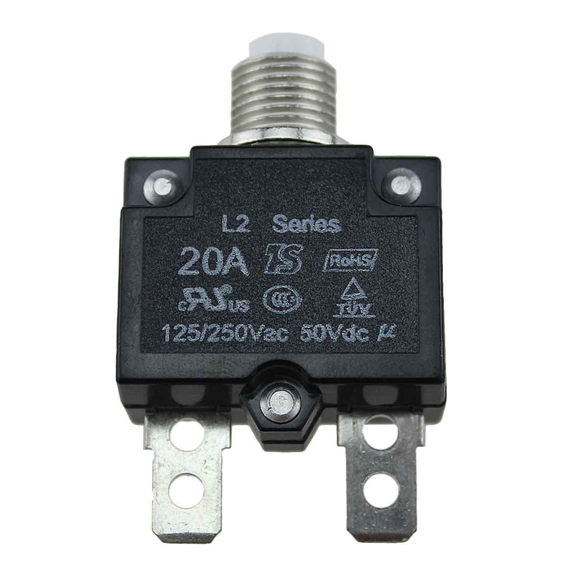 12-24V-Push-Button-Resettable-Thermal-Circuit-Breaker-Panel-Mount-5-10-15-20-AMP