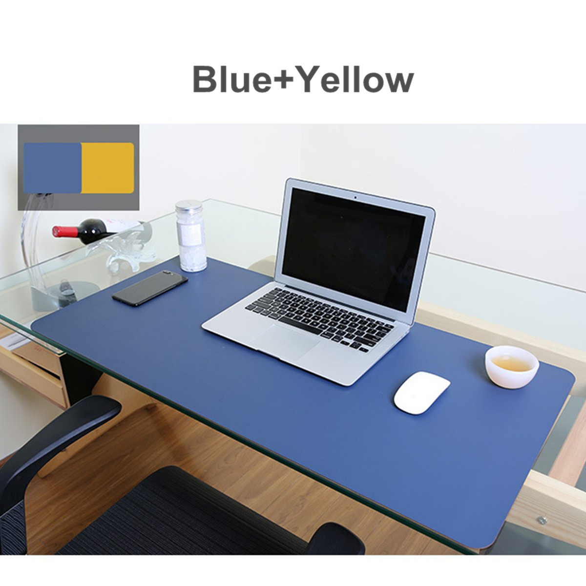80x40cm both sides extended pu leather mouse pad office computer rh ebay com computer desk mat heavy computer desk mat heavy
