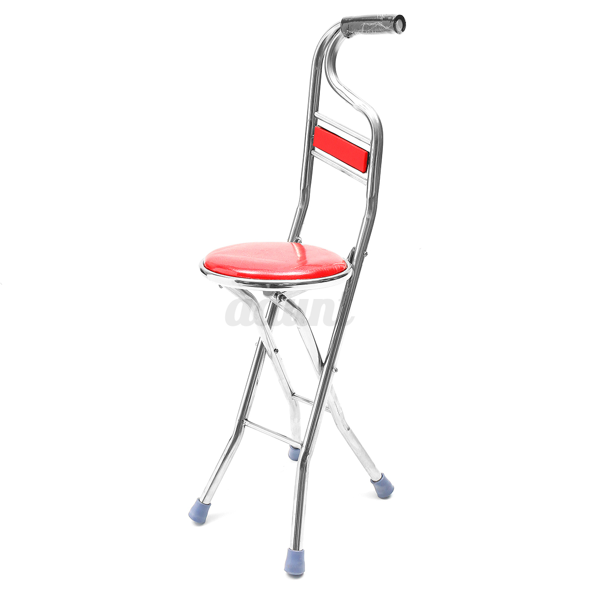 Stainless Steel Portable Folding Walking Stick Chair Seat Stool ...
