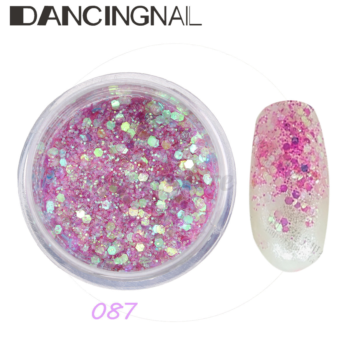Nail Glitter Dust Powder Sequins Sheets Tips Nail Art Manicure 3D ...