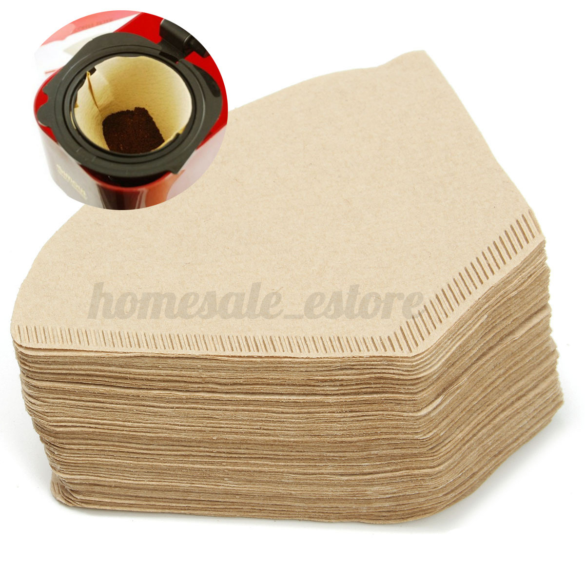 Coffee Maker Filter Papers : 100pcs White Coffee Paper Filter Poured Drip Espresso Machine Brewer Cup Maker eBay