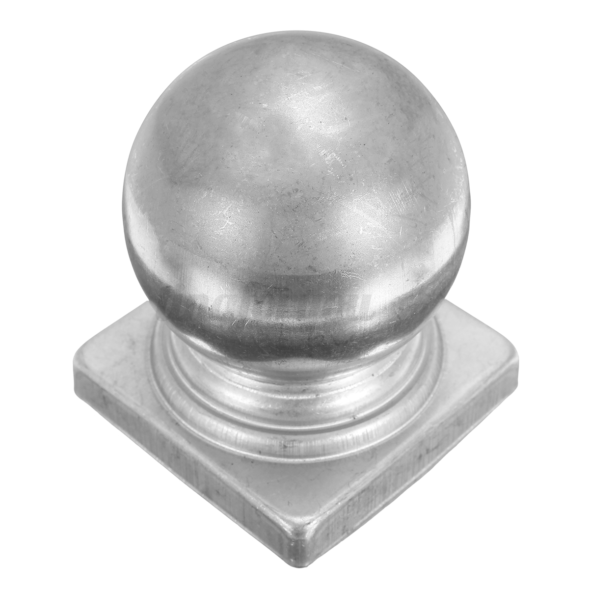 Square round silver metal iron fence gate post cap caps