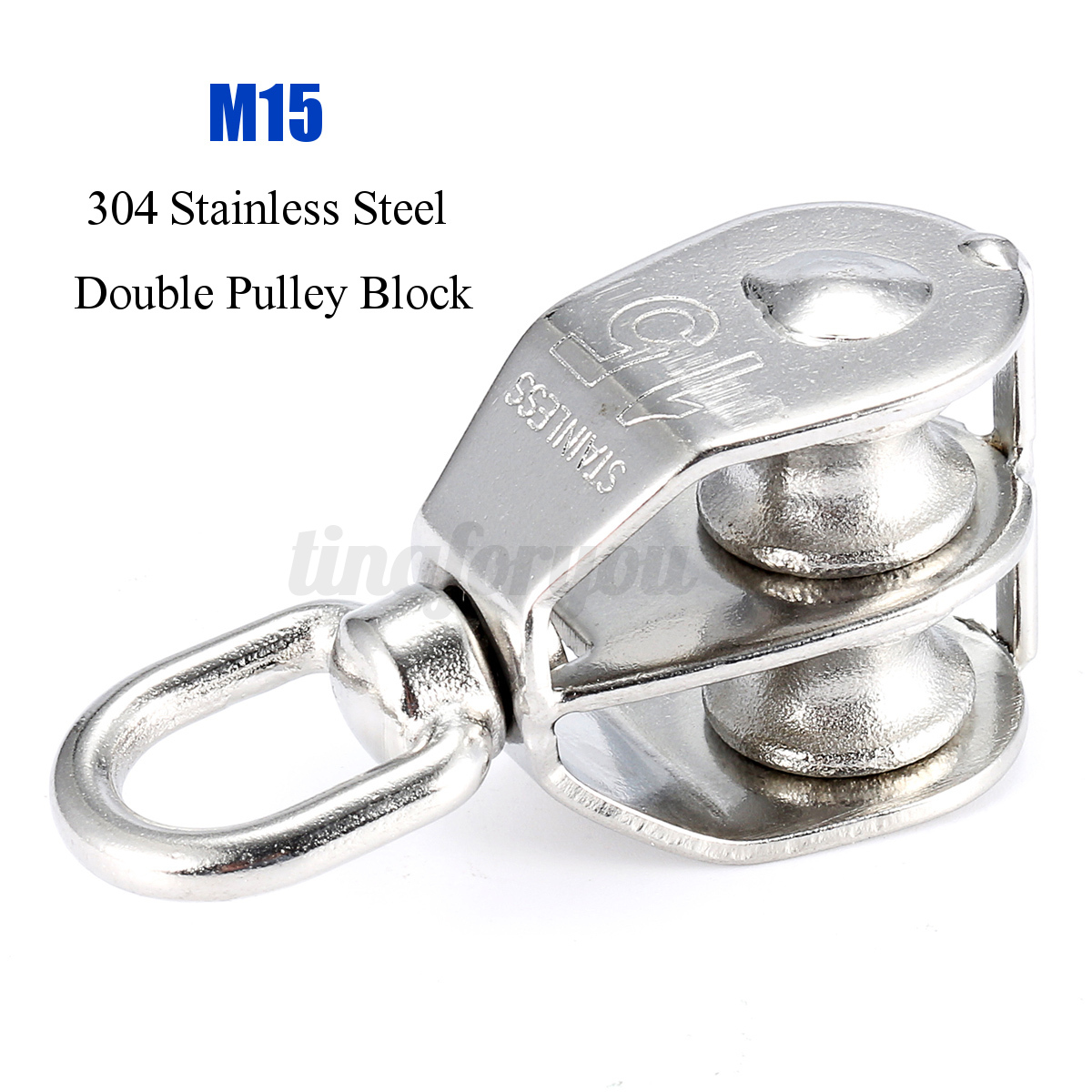 Steel M15 Double Pulley Block for Heavy Duty Wire Rope Chain ...