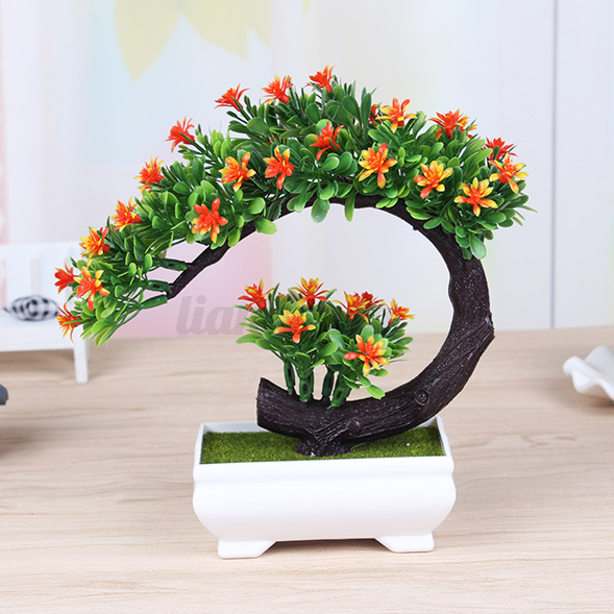 20cm artificielle plante pot fleur bonsa arbre jardin for Plante artificielle jardin