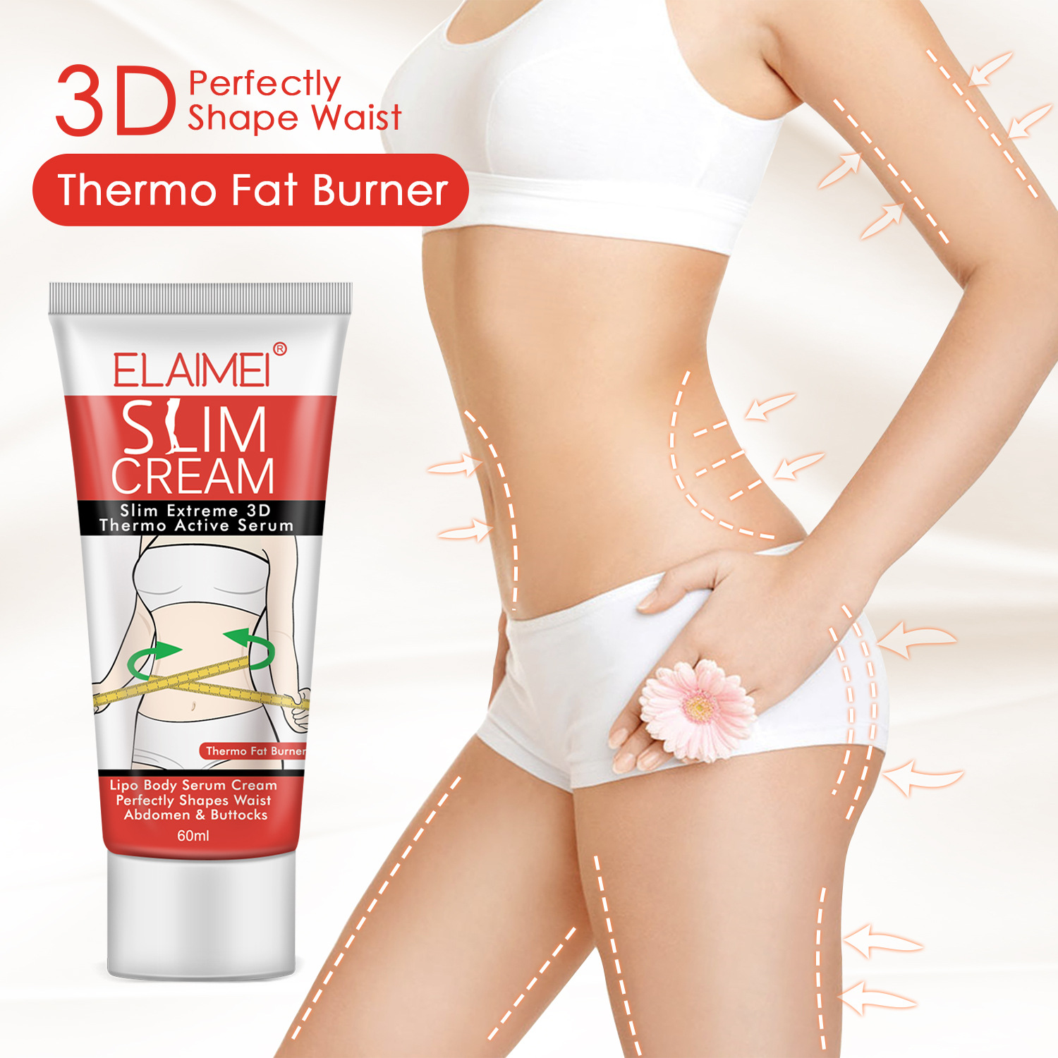 6bcd924a0ca ELAIMEI Cellulite Removal Cream Anti Fat Burning Slimming Cream ...